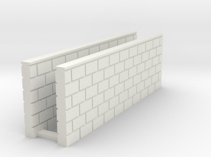 Block Wall - Butt Wall - L2 3d printed Part # BWJ-034