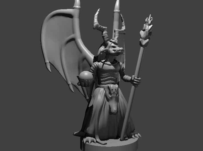 Kobold Chief with Wings 3d printed