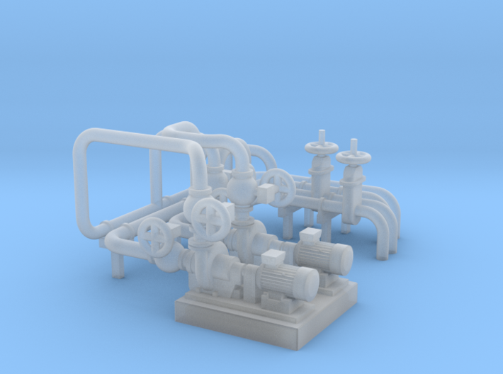 O Scale Pump Unit 3d printed