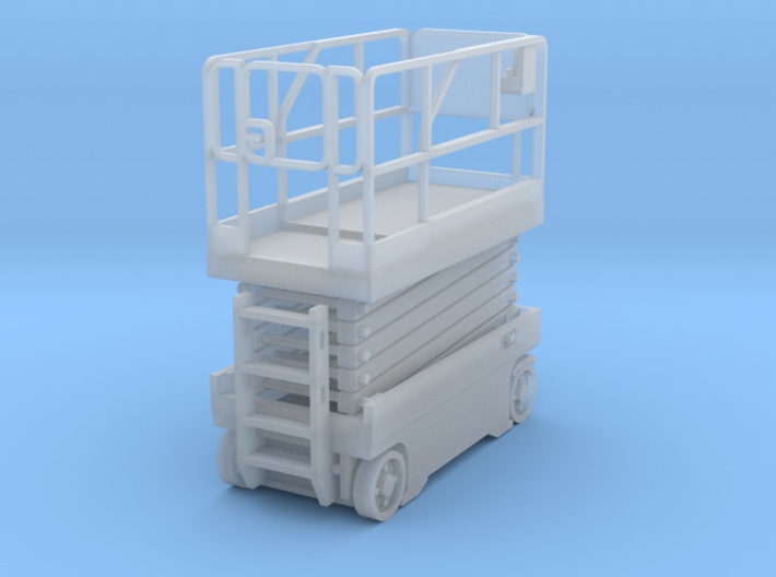 Scissor Lift 1-87 HO Scale Assembled 3d printed