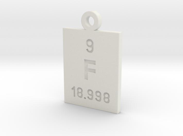 F Periodic Pendant 3d printed