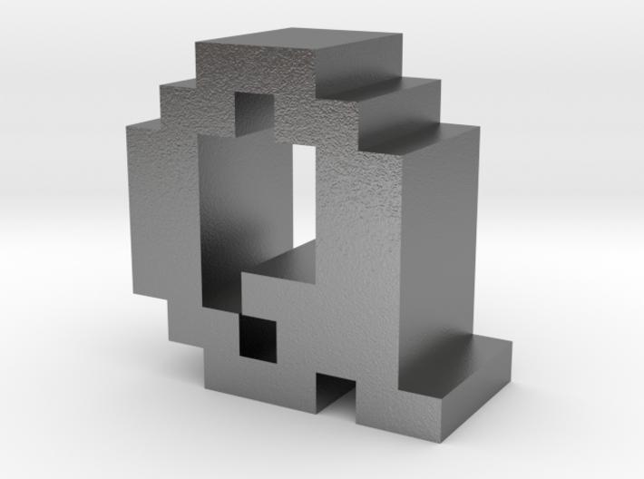 """Q"" inch size NES style pixel art font block 3d printed"