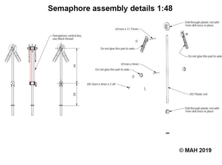Semaphore Kit 1/48 3d printed
