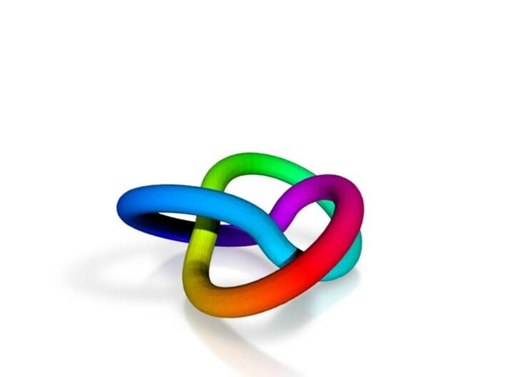 Trefoil Rainbow Color 3d printed