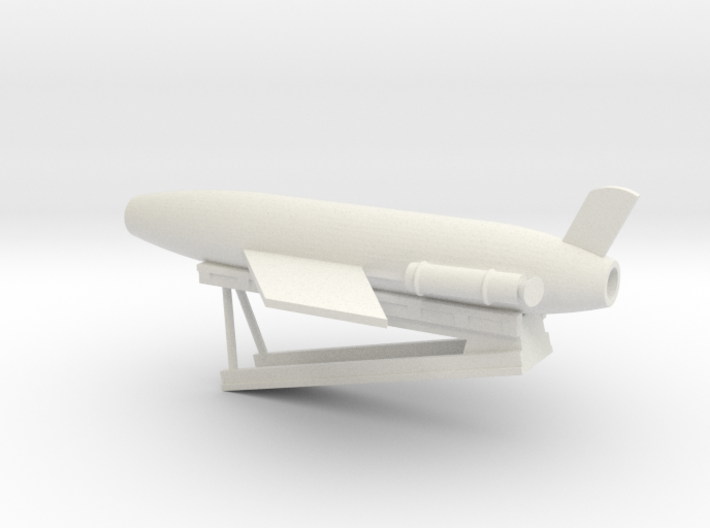 1/96 Scale Cruiser Regulus Launcher with Missile 3d printed