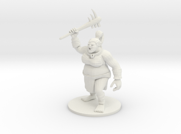 Female Ogre with Dented Head and Neck Harness 3d printed