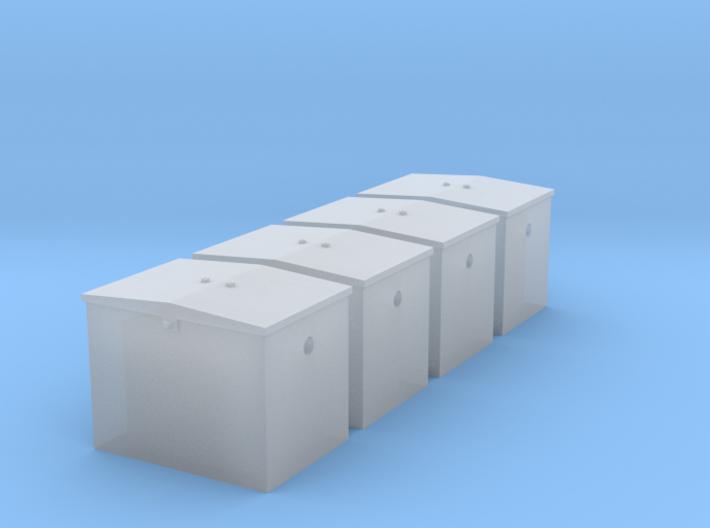 O - GN Railway - Battery Box - Qty. 4 3d printed