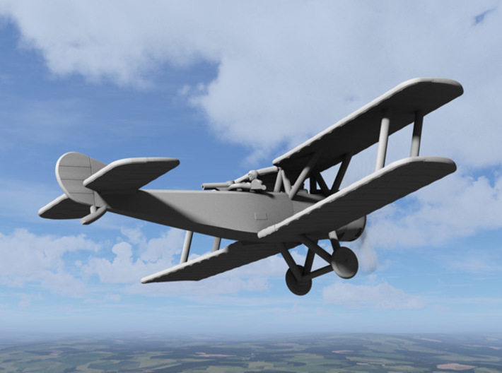 Sopwith 1-1/2 Strutter (two-seater, various scales 3d printed Computer render of 1:144 Sopwith Strutter