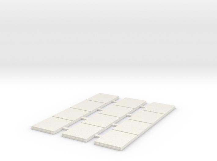 Sidewalk - 4 Segments (3 ea.) 3d printed Part # SW-004