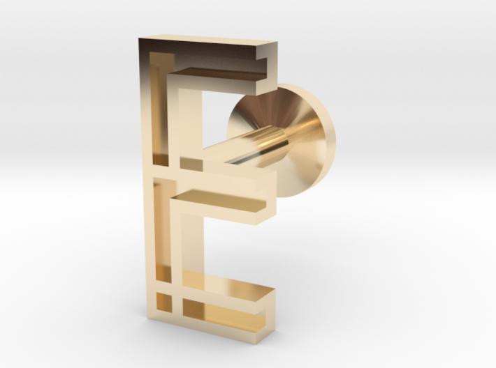 Letter E 3d printed