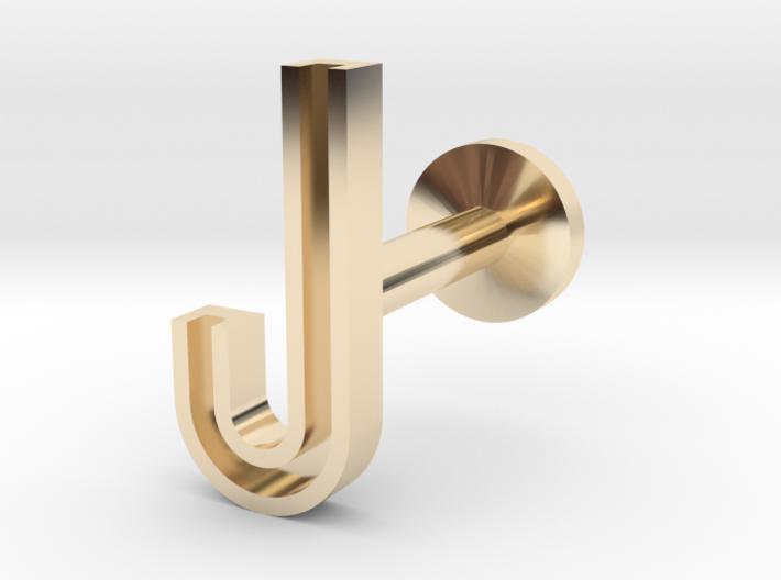 Letter J 3d printed