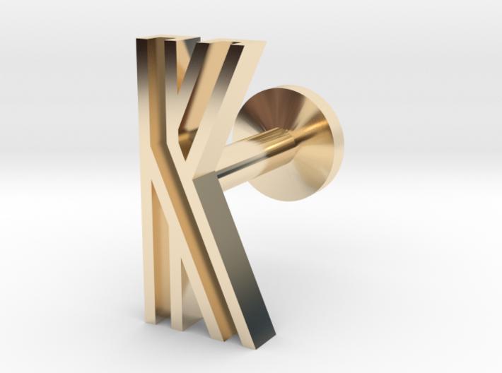Letter K 3d printed