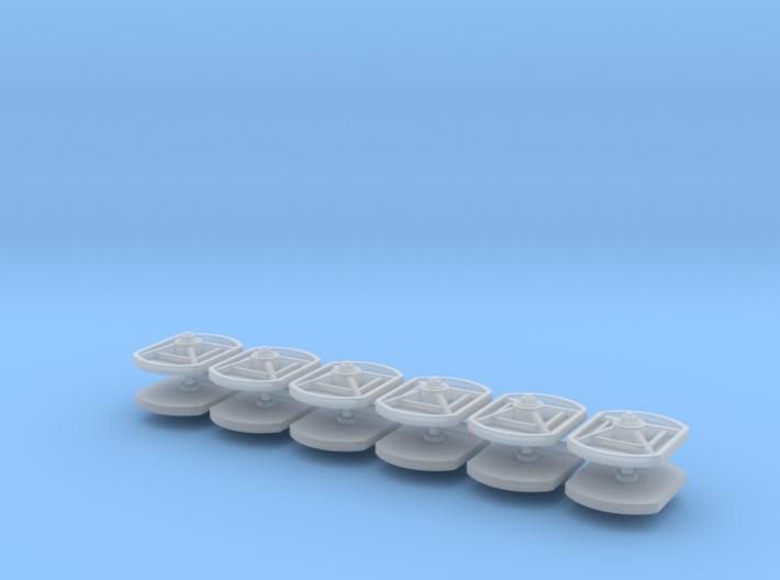 12 Maueranker rechteckig 1:45 (Spur 0) 3d printed