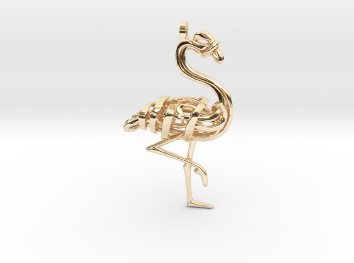 Flamingo Pendant 3d printed