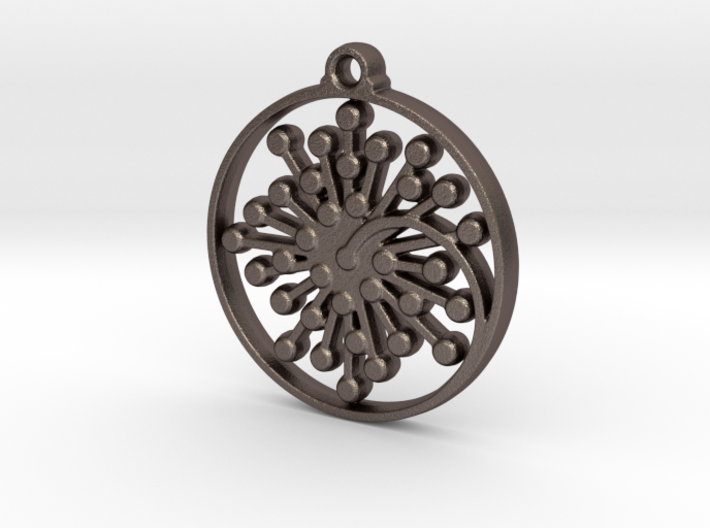 Floral Pendant IV 3d printed