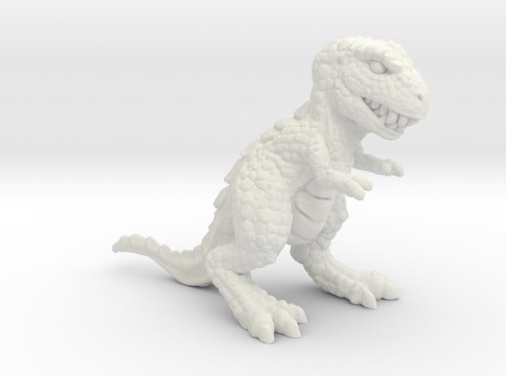 Retrosaur - Allosaurus, Plastic & Metal 3d printed