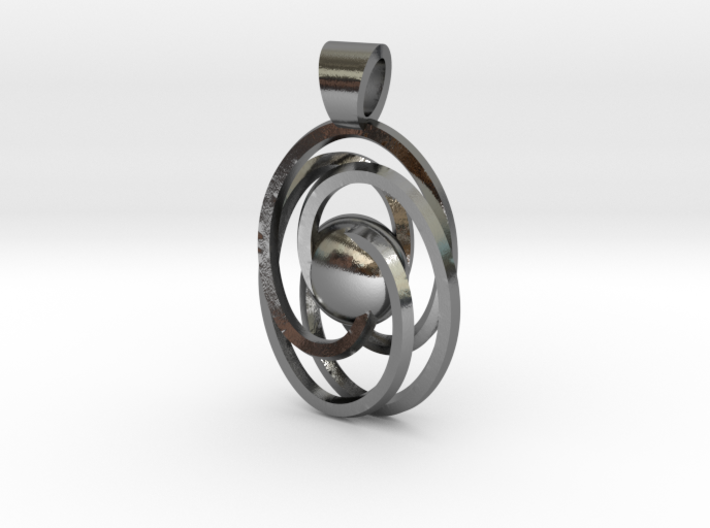 Abstract atom [pendant] 3d printed