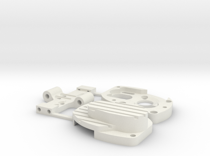 Losi 130/180 Motor Case and Base Assembly 3d printed