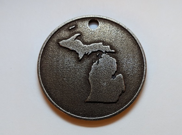 Customizable Coin Tag: Michigan Edition 3d printed