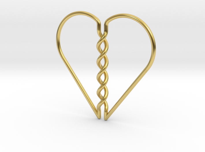 Tangled Heart Pendant (No Holes) 3d printed