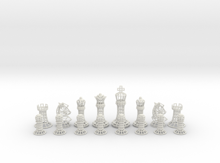 Wire Chess 3d printed