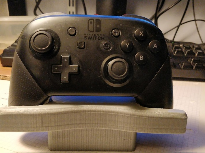 Video Game Controller Stand 3d printed Switch Pro Controller in stand #1