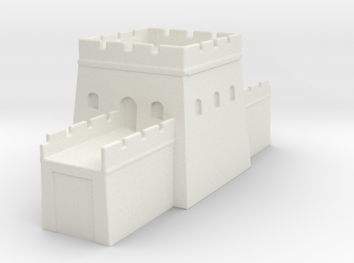 the grat wall of china 6mm 1/285 tower s 3d printed