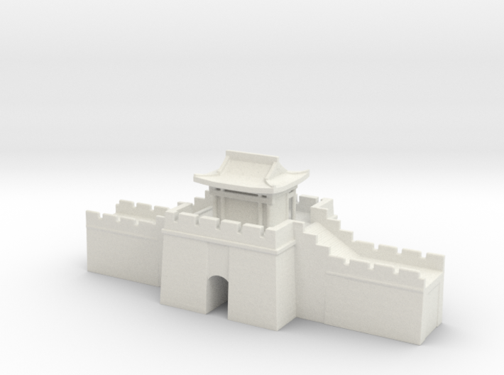 the great wall of china 1/350 gate pass roof 3d printed