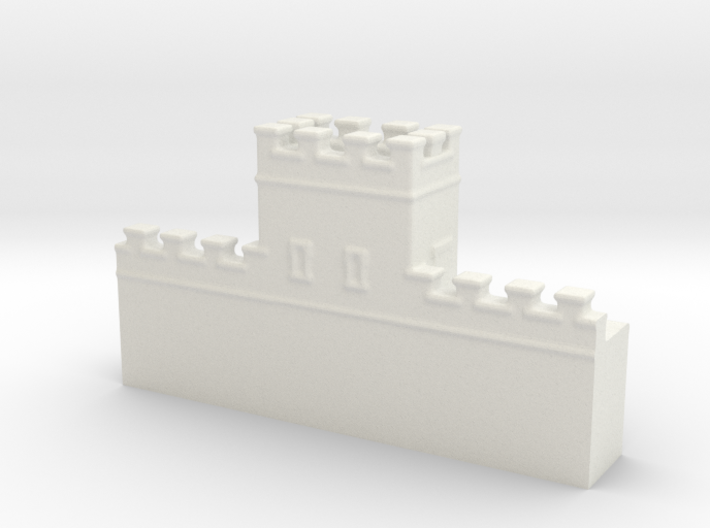 Hadrian's wall 1/600 turret thin 3d printed