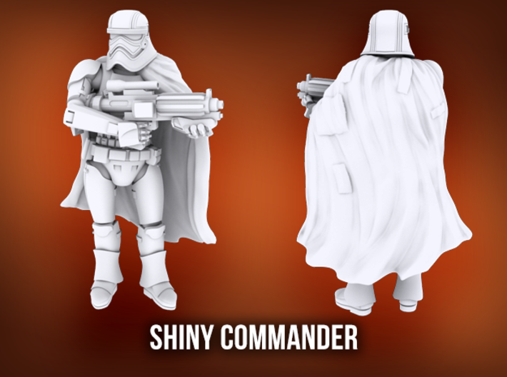 Shiny Commander 3d printed