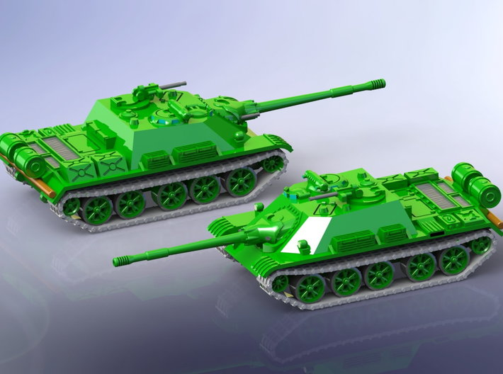 Russian SU-122 54 Tank Destroyer 1/285 3d printed