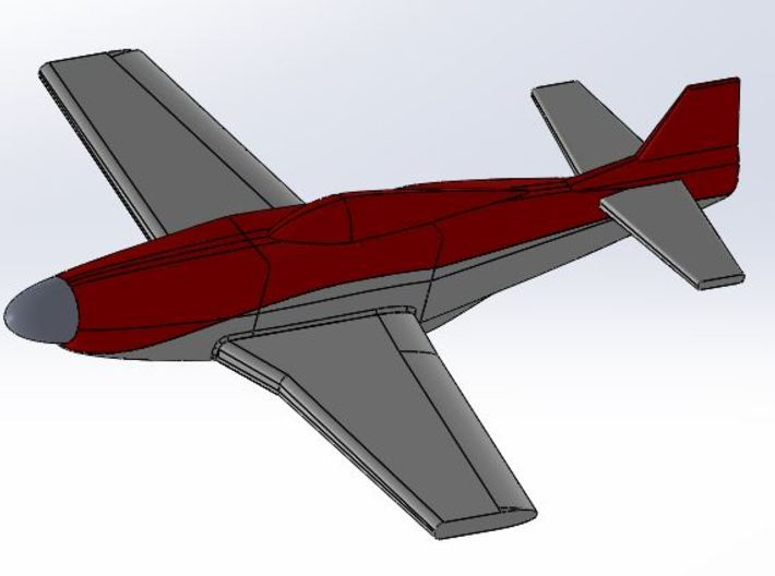 P-51 Strega Belly 3d printed