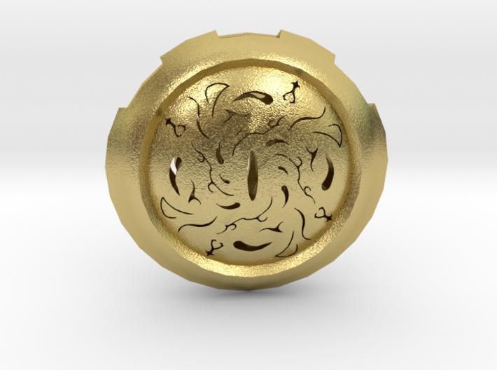Hollow Eye Medallion 3d printed