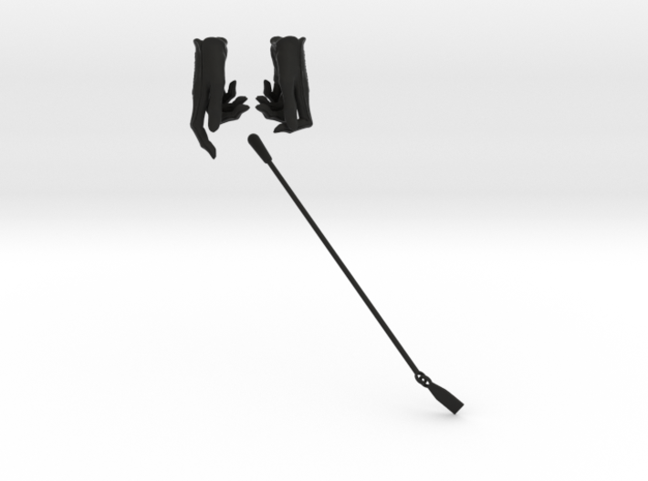 Gloves and Riding Crop 3d printed