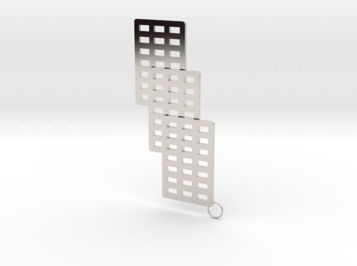3 Cube Earring 3d printed