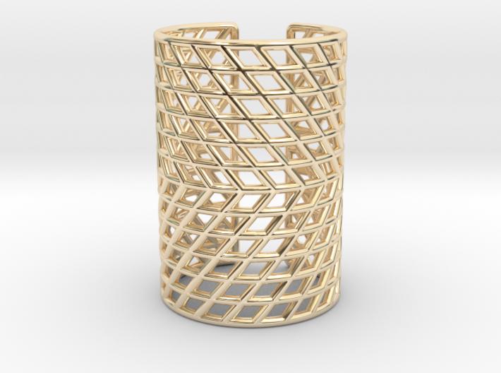 Adjustable Mesh Grid Ring: Size 5-7 3d printed