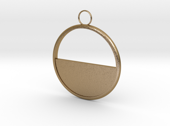 Round Earring 3d printed