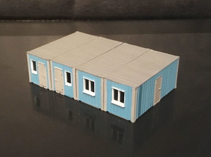 N scale 20ft office container x 4 3d printed
