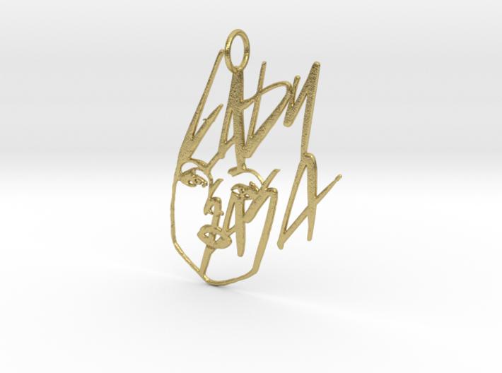 Lady Gaga Pendant - Exclusive Jewellery 3d printed