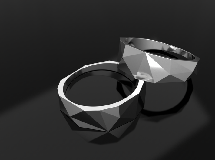 Low Poly Ring 3d printed