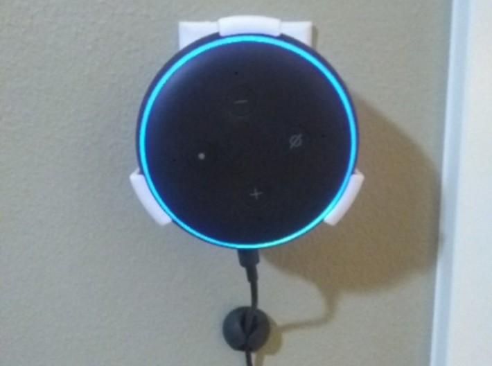 Alexa Echo Dot Wall Holder 3d printed
