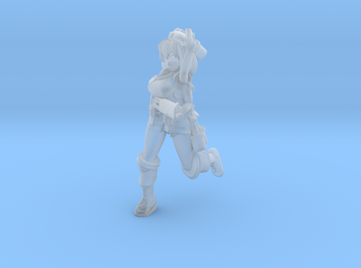 Mutant Soldier Girl 3d printed