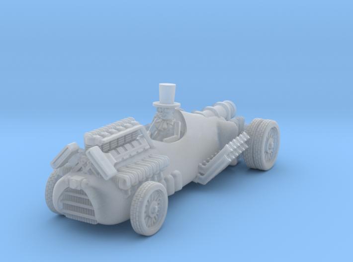 post apocalypse classic race car + rocket engine 3d printed