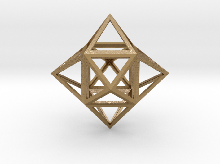 """Stellated Cube (Hexahedron) 1.8"""" 3d printed"""