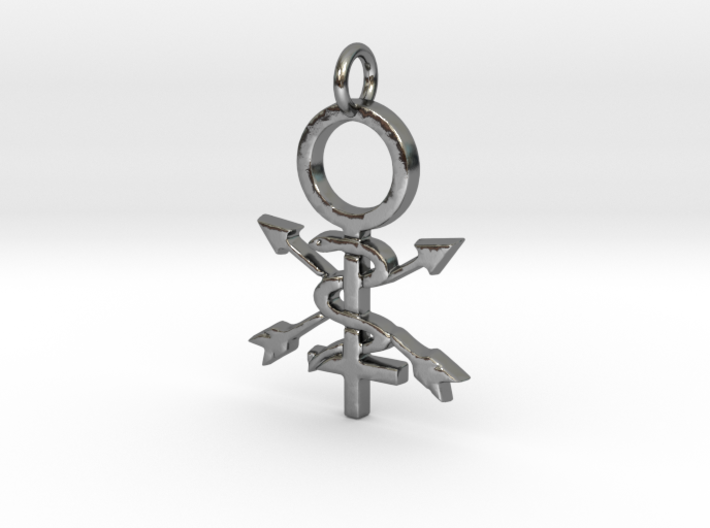 Women in Athletic Training Pendant 3d printed
