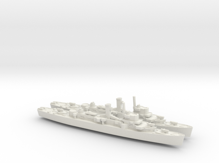 USS England x2 (Buckley Class) 1/1800 3d printed