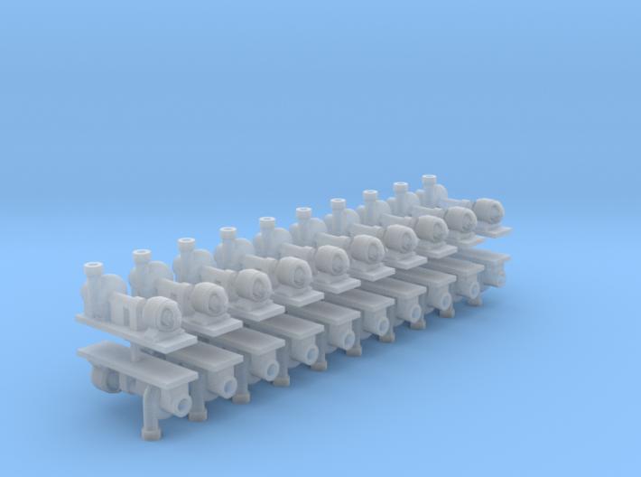 Zentrifugalpumpe ältere Bauart 20erSet - TT 1:120 3d printed