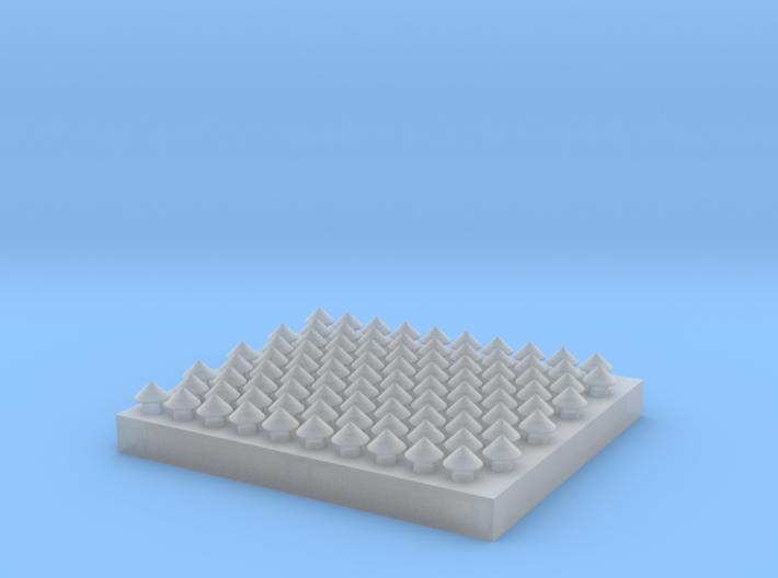Steeple Head Rivets 1:20.3 Scale 3d printed