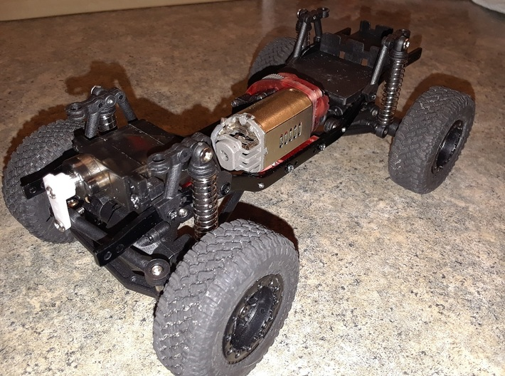1/24 Barrage conversion to Losi transmission and 1 3d printed