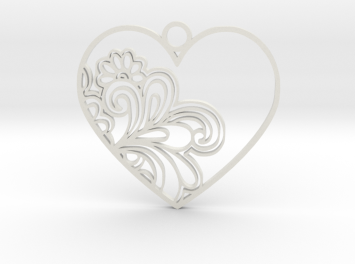Heart Flower 3d printed